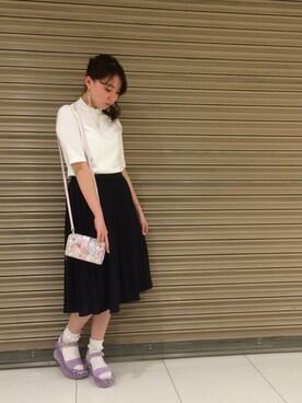 Honey Salon by foppish|IZUMIさんの「ハイネックTシャツ(Honey Salon by foppish)」を使ったコーディネート
