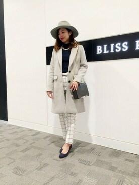 BLISS POINT 京都桂川|BLISS POINT 京都桂川店 Womens Staffさんの「12Gアンゴラリブハイネック/570187(BLISS POINT)」を使ったコーディネート