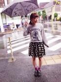 YURIKOさんの「サーカスPt雨傘(ThreeFourTime|スリーフォータイム)」を使ったコーディネート