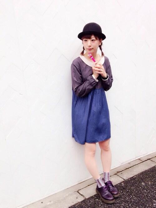 YURIKOさんの「2wayチェック柄ソックス(靴下屋)」