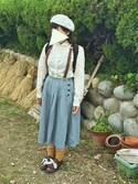 hanaさんの「ヘリンボーンキルトプリーツスカート(Samansa Mos2 サマンサ モスモス)」を使ったコーディネート