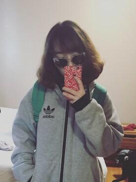 (adidas) using this 糊米酒汤圆 looks