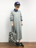 MIKULUさんの「<サンドバーグ直美さん着用>6オンスデニムシャツ(STYLEST スタイレスト)」を使ったコーディネート