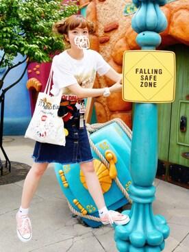 sumika .さんの「★4 ビーミング by ビームス / フロント釦デニムスカート(B:MING LIFE STORE by BEAMS)」を使ったコーディネート