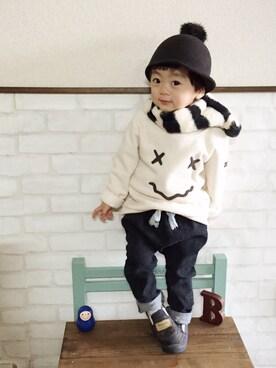 いづ&すぅさんの(韓国子供服)を使ったコーディネート