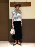 YUMIRUさんの「イカット柄ハンカチ(ikka|イッカ)」を使ったコーディネート