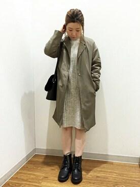 ikka 綾川店|YUMIRUさんの「ミリタリー中綿チェスタコート(ikka)」を使ったコーディネート