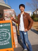 「Nudie Jeans Nudie Leather Jacket Dean Tan Biker(Nudie Jeans)」 using this けいさん looks