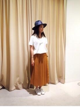 actuel アクア広島店|akihoさんの「スキッパーシャツ(INTERPLANET)」を使ったコーディネート