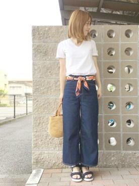 てらさんの「IL BISONTE / Hand Bag(IL BISONTE|イルビゾンテ)」を使ったコーディネート