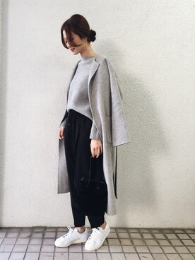 URBAN RESEARCH DOORS|DOORS WOMENSさんの「DOORS ウールガウンコート(URBAN RESEARCH DOORS WOMENS)」を使ったコーディネート