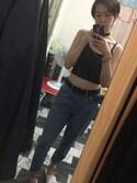 「Topshop Moto High Rise Crop Jeans (Dark Denim)(Topshop)」 using this Cassadee Tam looks
