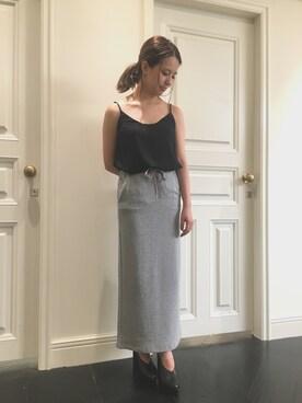 FRAY I.D|akane takahashiさんの「ライトスウェットスカート(FRAY I.D)」を使ったコーディネート