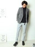 tomohiro.moritaさんの「アラン編みタートルネックニット(improves|インプローブス)」を使ったコーディネート