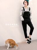 「蕾絲網紗拼接運動衫(ORENDA)」 using this ORENDA looks