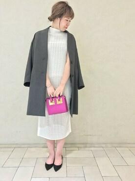 journal standard luxe 渋谷店|JOURNAL STANDARD Lady's 札幌店スタッフさんのその他アウター「《予約》TRダブル クロスコート◆(journal standard L'essage|ジャーナルスタンダードレサージュ)」を使ったコーディネート