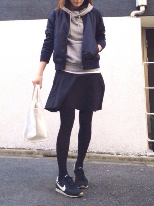LUMIE|JOURNAL STANDARD relume WOMENのMA-1を使ったコーディネート - WEAR