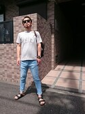 「Ray-ban **black wayfarer(Ray-Ban)」 using this 小川 宏人 looks