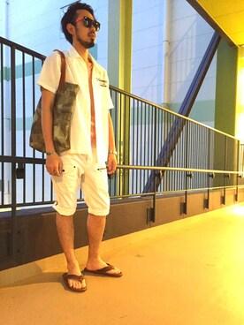 AVIREX富士見|KJさんの「avirex/ アヴィレックス/ S/S KELLY EMBROIDERY SHIRT/ ケリー 刺繍シャツ(AVIREX)」を使ったコーディネート