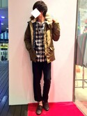 みっきーさんの「STUDIOUS 配色ビーズアンクレット MADE IN JAPAN(STUDIOUS ステュディオス)」を使ったコーディネート