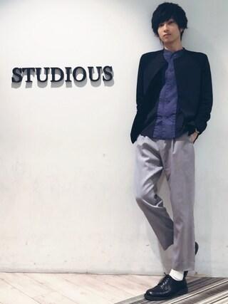 STUDIOUS MENS ルミネエスト新宿店|みっきーさんの「【ETHOSENS】E215-204(ETHOSENS|エトセンス)」を使ったコーディネート