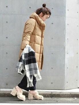 journal standard luxe 渋谷店|JOURNAL STANDARD 渋谷店スタッフBさんのダウンジャケット/コート「ウールサキソニーショールロングダウン_# (JOURNAL STANDARD|ジャーナルスタンダード)」を使ったコーディネート