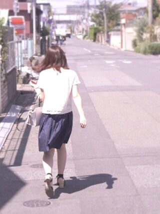 葵さんの「カラーボリュームスカート 712810(LOWRYS FARM|ローリーズ ファーム)」を使ったコーディネート