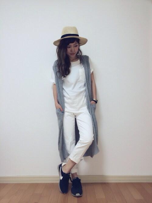 me☆さんの「SIMPLE U/N TEE J(MOUSSY)」を使ったコーディネート