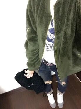 ふくちゃんさんの「avirex/アヴィレックス/  FLY BOY S/S TEE SHIRT/ フライボーイ 半袖 ティーシャツ(AVIREX)」を使ったコーディネート