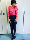 tacco☻さんの「Moschino Cropped intarsia cotton sweater(Moschino|モスキーノ)」を使ったコーディネート