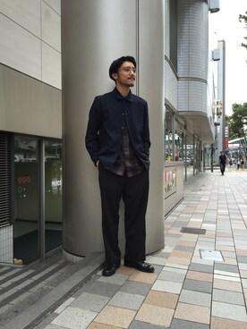 ADAM ET ROPE' 名古屋PARCO|西川卓さんの「トロピカルコーチジャケット(ADAM ET ROPE')」を使ったコーディネート