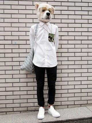 Revelations/|ザッシュ(仮称)さんの「.efiLevol Pocket Shirt 【Revelations/別注】(.efiLevol|エフィレボル)」を使ったコーディネート