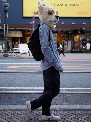 Revelations/|ザッシュ(仮称)さんの「narifuri Qualite long pants(narifuri|ナリフリ)」を使ったコーディネート