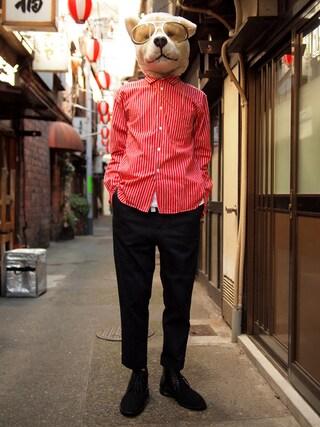 Revelations/|ザッシュ(仮称)さんの「KIDS LOVE GAITE × insane Chukka boots【Limited】(KIDS LOVE GAITE|キッズラブゲイト)」を使ったコーディネート