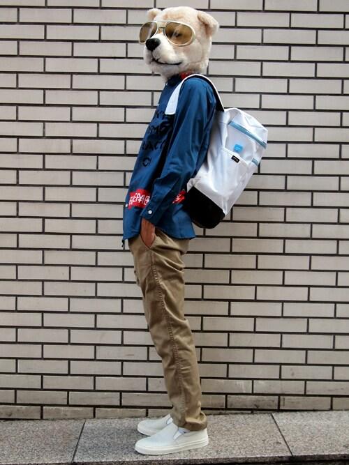 ザッシュ(仮称)さんの「月曜美術倶楽部(Monday Art Club) × TOKYO DEMOCRACY ANARCHY Shirt(Revelations/)」を使ったコーディネート