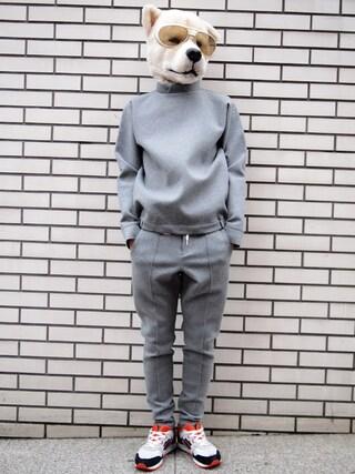Revelations/|ザッシュ(仮称)さんの「.efiLevol Knitted Cardboard Pullover(.efiLevol|エフィレボル)」を使ったコーディネート