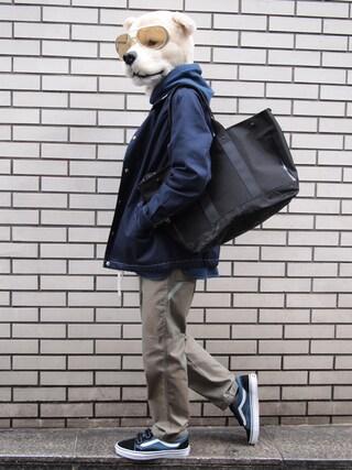 Revelations/|ザッシュ(仮称)さんの「【Revelation/別注】 narifuri Tote bag(narifuri|ナリフリ)」を使ったコーディネート
