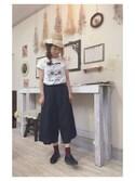aiさんの「マリオネット プリント Tシャツ(peu pres|プープレ)」を使ったコーディネート