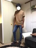 蓮さんの「ライトポンチ Tシャツ(ADAM ET ROPE'|アダム エ ロペ)」を使ったコーディネート