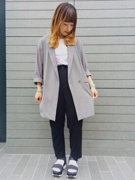 EN ROUTE FUTAKOTAMAGAWA|N.Numataさんの「ENR ポリエステルダブル2Bジャケット(EN ROUTE)」を使ったコーディネート
