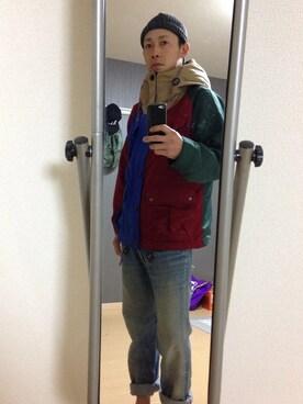 Hiro│マウンテンパーカーコーディネート