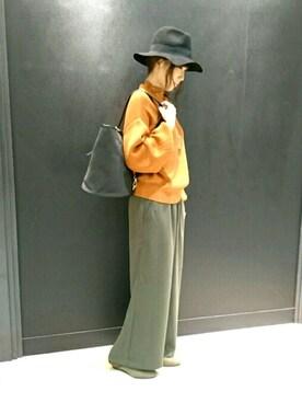 INTERPLANET WINGS 広島皆実店|KOZUUさんの「トロミワイドパンツ(actuel|アクチュエル)」を使ったコーディネート