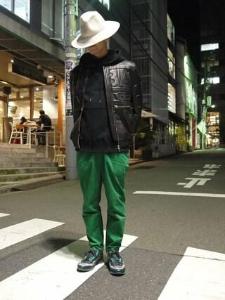 MIDWEST TOKYO MEN|AKKYさんの(HBA|フードバイエアー)を使ったコーディネート