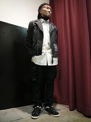 MIDWEST TOKYO MEN|AKKYさんの(off white|オフホワイト)を使ったコーディネート