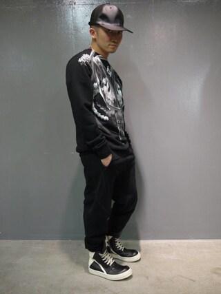 MIDWEST TOKYO MEN|AKKYさんの「603 PVCベースボールキャップ(603|ロクマルサン)」を使ったコーディネート