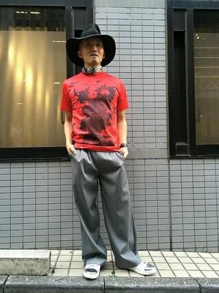 MIDWEST TOKYO MEN|AKKYさんの「QUN TOKYO メタルスニーカー(QUN TOKYO|キューユーエヌ トーキョー)」を使ったコーディネート