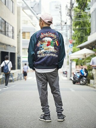 MIDWEST TOKYO MEN|AKKYさんの「■別注■ doublet×MIDWEST スカジャン(doublet|ダブレット)」を使ったコーディネート