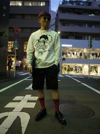 MIDWEST TOKYO MEN|AKKYさんの「■別注■ PADRONE×MIDWEST エナメルラバーソールシューズ(PADRONE|パドローネ)」を使ったコーディネート