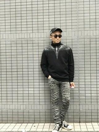 MIDWEST TOKYO MEN|AKKYさんの「MARCELO BURLON 『ANTOFALLA』プルオーバー(MARCELO BURLON|マルセロ・バーロン)」を使ったコーディネート