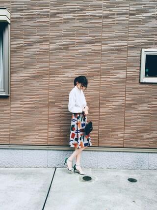 橋爪愛さんの「グラフィカルスカート(UNITED TOKYO|ユナイテッドトウキョウ)」を使ったコーディネート